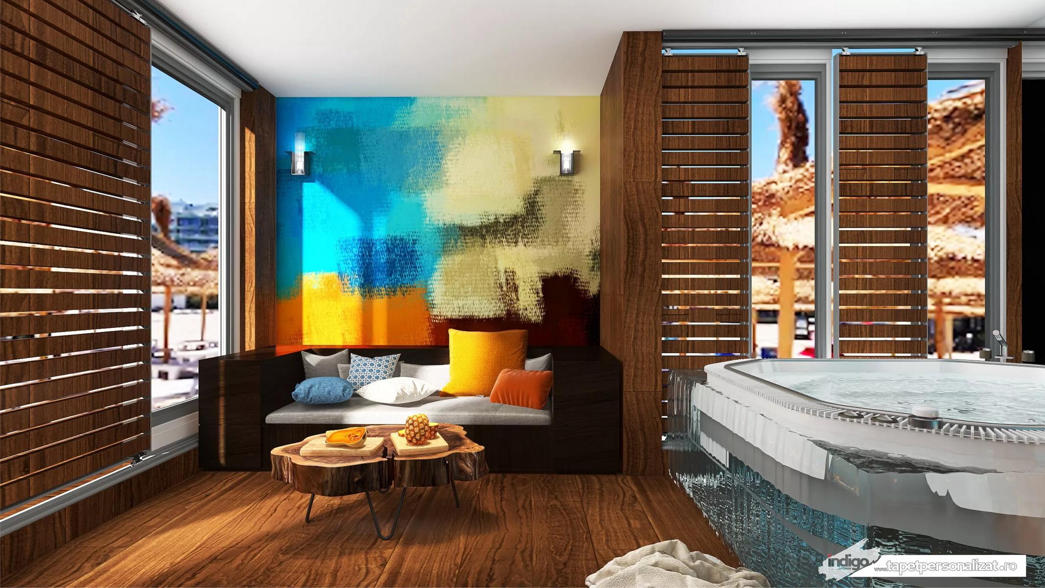 Model Tapet – Abstract amestec de culori