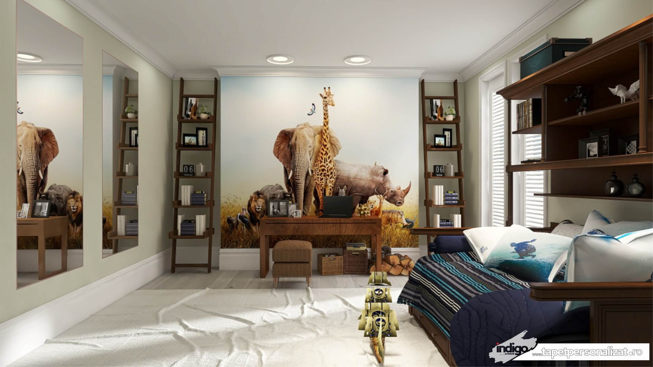 Model Tapet – Animale Savana